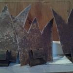 Metallkronen rostig